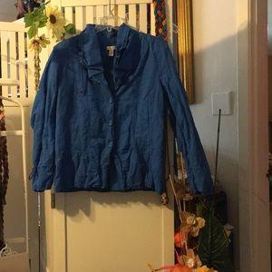 Chico's Azure Blue Jacket